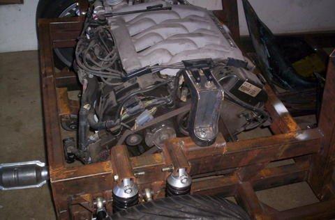 Engine in frame